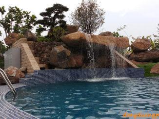Thác nước trang trí cho hồ bơi