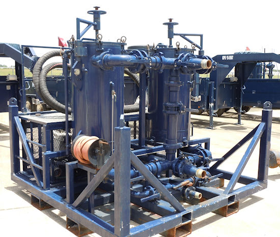 blue filtration equipment at Mitchell Industries
