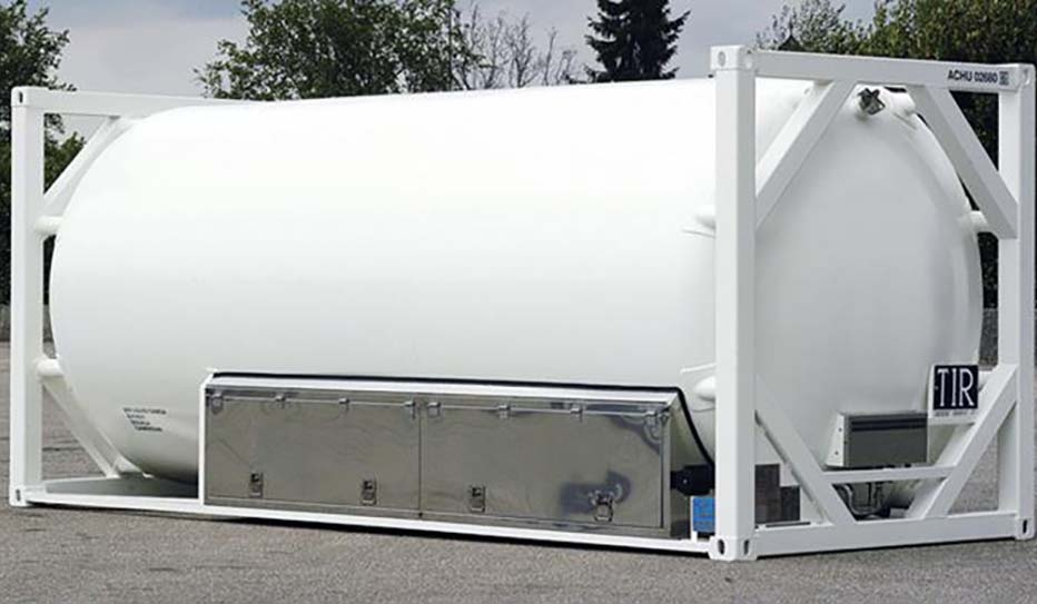 Large white coating tank at Mitchell Industries