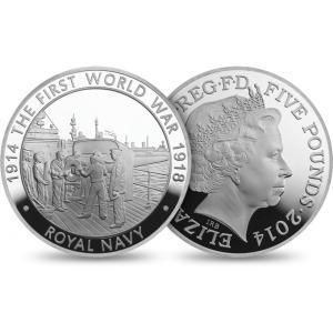 QEII WWI 5 Pound Royal Navy