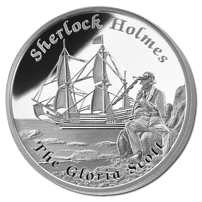 Tuvalu Issues 2014 Sherlock Holmes – Gloria Scott Dollar Coin