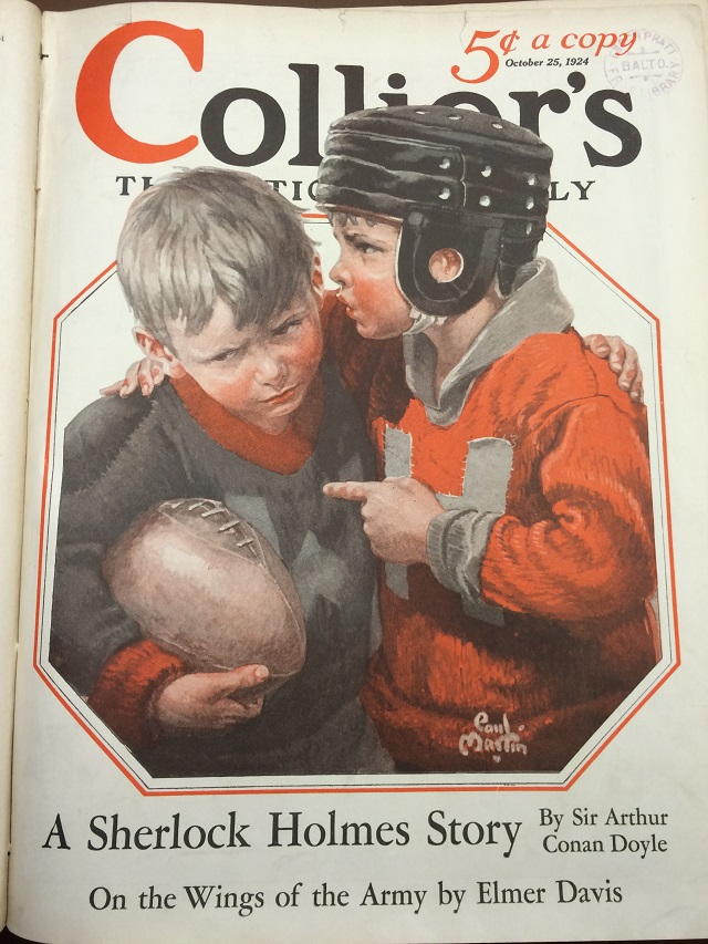 Collier's Magazine Cover for October 25, 1924 – The Three Garridebs