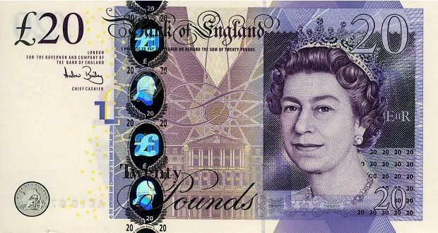 Elizabeth L20 Note Front