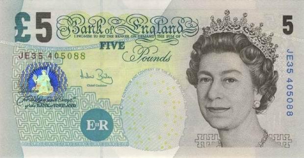 Elizabeth L5 Note Front