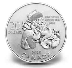 2013 Canada $20 Santa Claus Coin