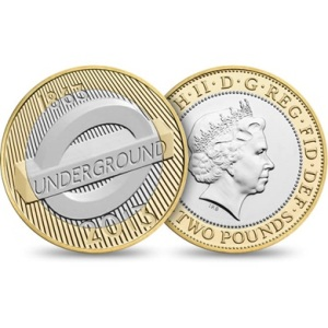 2013 London Underground Roundel 2 Pounds