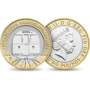 2013 London Underground Train 2 Pounds