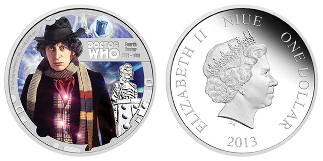 Tom Baker - Dr Who Coin both sides