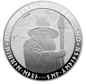 2012 NZ Gandalf $1 Silver