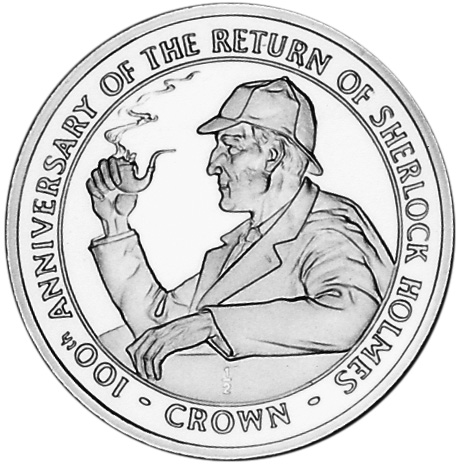 A Newly Discovered 1994 Gibraltar Return of Sherlock Holmes Coin