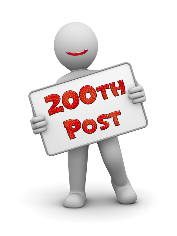 The Post of Awesomeness: Our 200th Post and One Year Anniversary