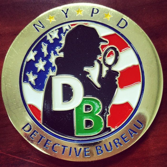 Two Sherlockian Themed Challenge Coins From NYPD's Missing Persons Squad