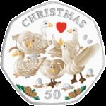 2010 IoM 50p 6 Geese
