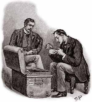 A curious collection. - Illustration by Sidney Paget in The Strand Magazine, May 1893
