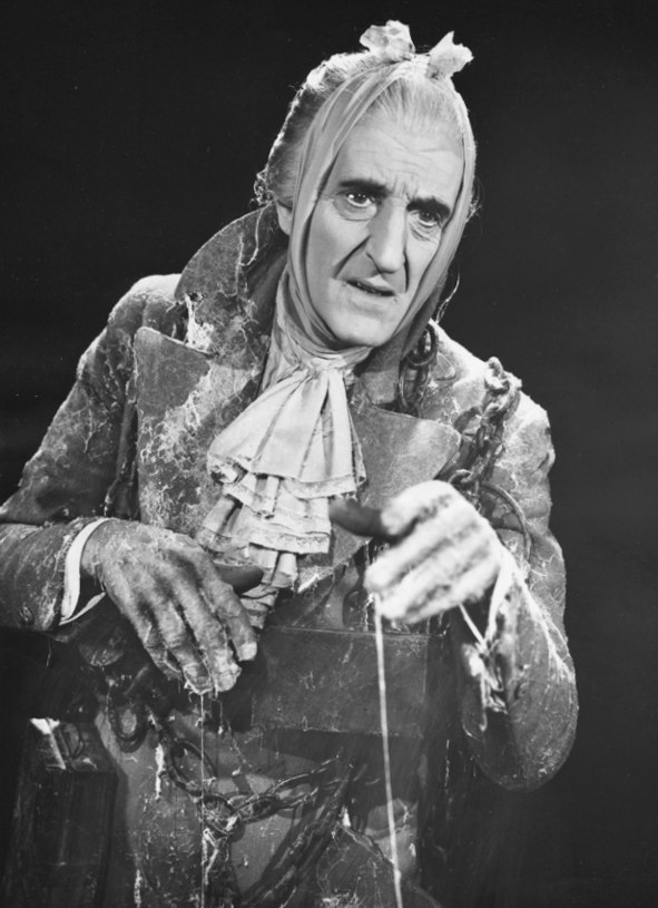 Basil Rathbone as Marley in A Christmas Carol (1954)