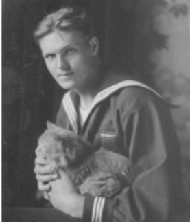 A photograph of the young Allan Price in the Navy in 1917.
