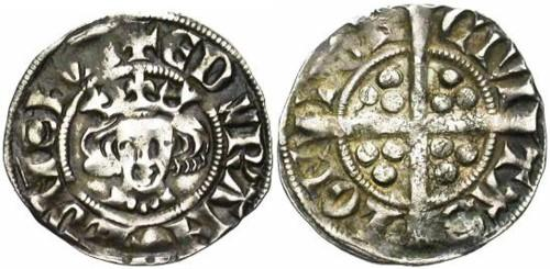 """Penny with """"thick"""" cross. Edward I. 1272-1307."""