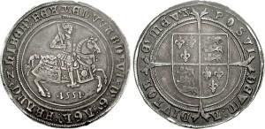 Crown. Edward VI. 1551-1553. Fleur de lis on crest