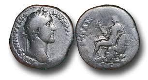 Sestertius with Britannia. Second century A.D.