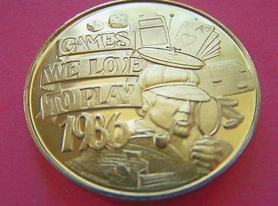 1986 Mardi Gras Doubloons from the Krewe of Amor