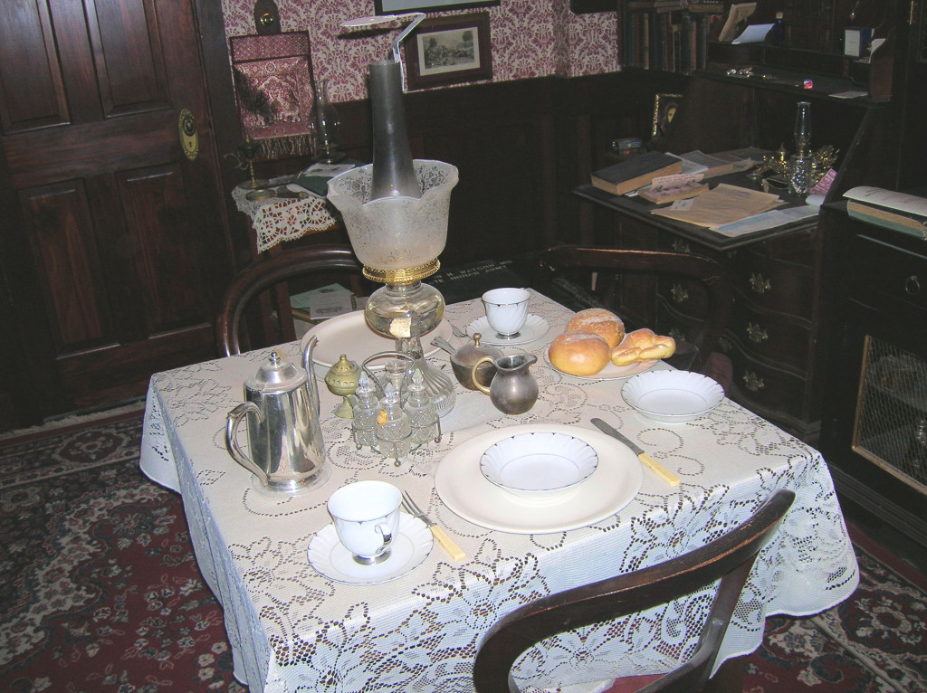 Mrs. Hudson would place meals on the Dining table ~ 221B in Reading