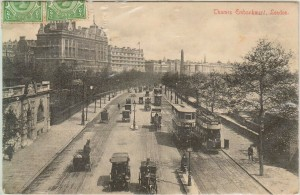 Postcard of the Thames Embankment, near where John Openshaw died ~ WTB FIVE Evidence Box