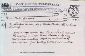 FIVE - telegram from harbormaster