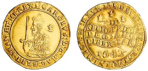 1642 Gold Triple Unite (60 Shillings)