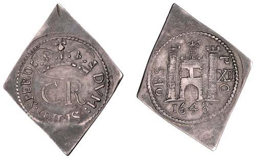 1648 Pontefract Siege Silver Shilling