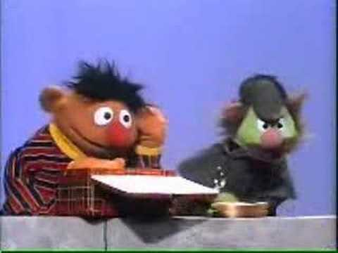 Sherlock Hemlock, right, with Ernie of Sesame Street