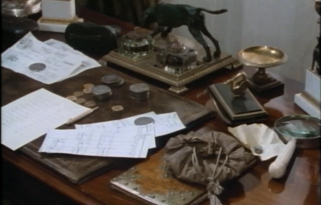 Ronald Adair's desk - Granada's The Empty House