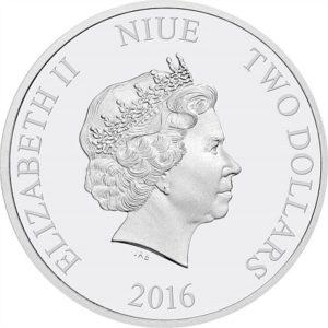 2016 Niue $2 Obverse