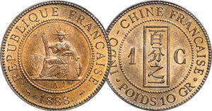 France Indochina 1888 cent