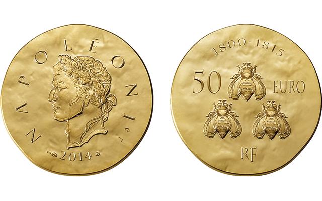 2014 France gold 50 Euros coin
