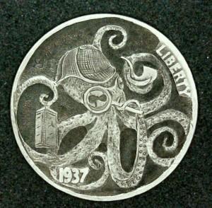 The Sherlocktopus 1937 Hobo Nickel