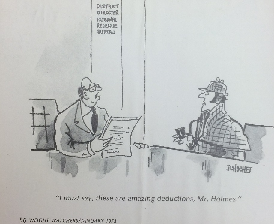 From the John Bennett Shaw Collection: Sherlock Holmes and the IRS