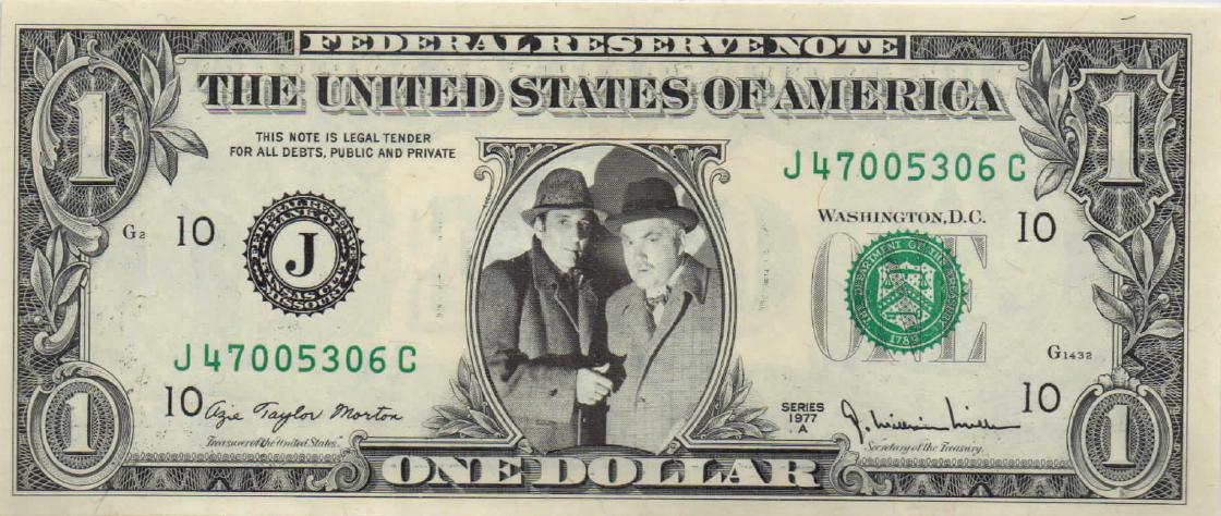 The Rathbone & Bruce Personality Dollar Bills