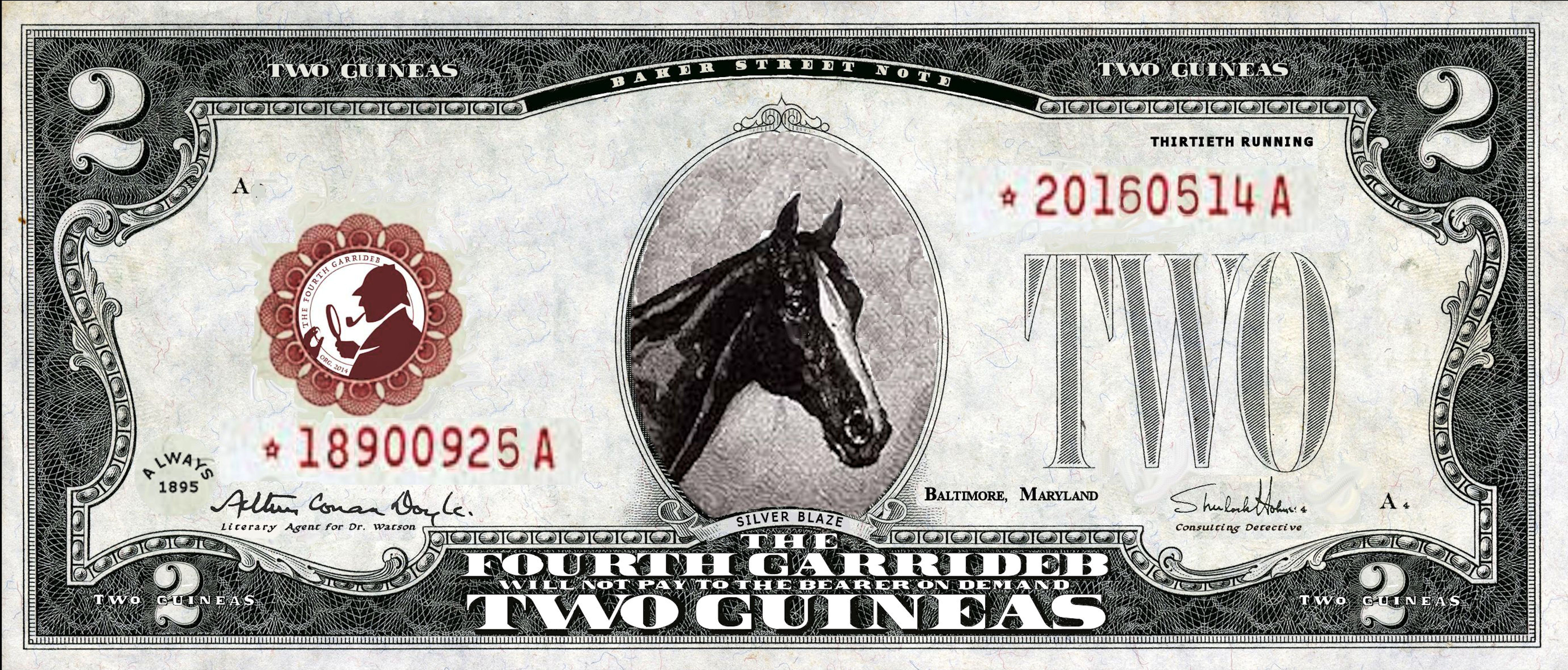The 2016 Silver Blaze (Southern Division) 2 Guinea Banknote
