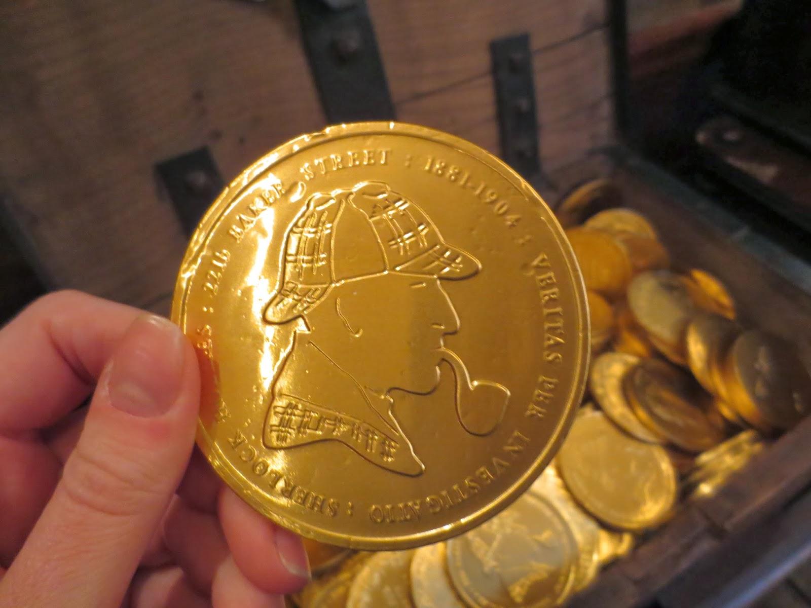 Sherlockian Chocolate Coins