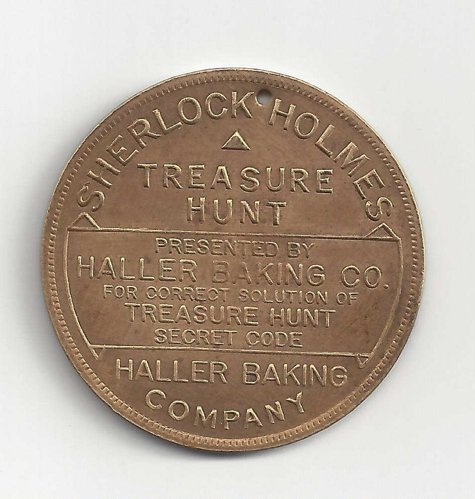 The Haller Baking Company's Sherlock Holmes Treasure Hunt Token