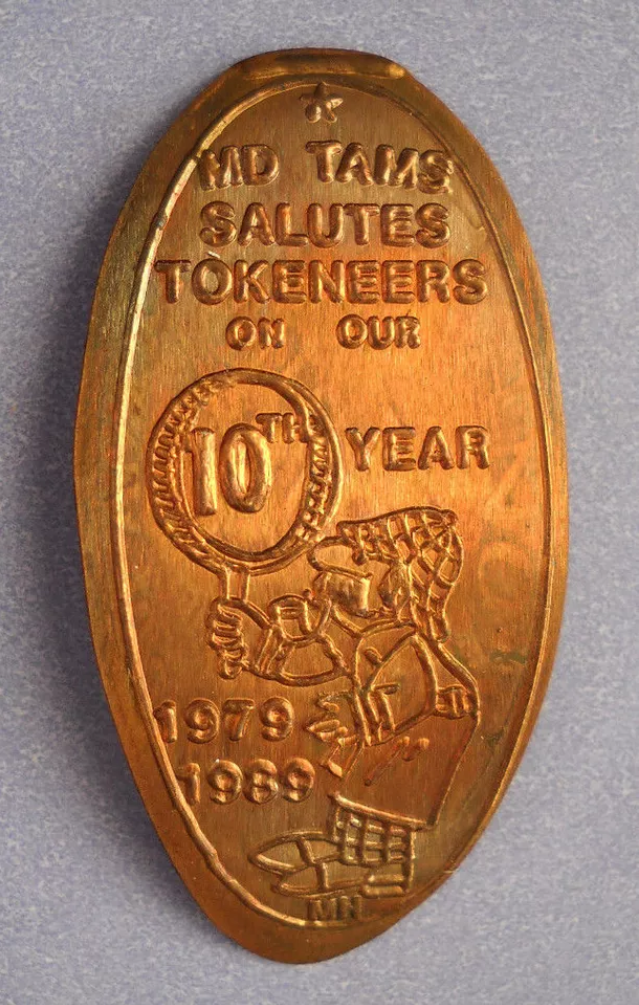 MD TAMS Issued Sherlockian Elongated Coin to Celebrate 10th Anniversary in 1989