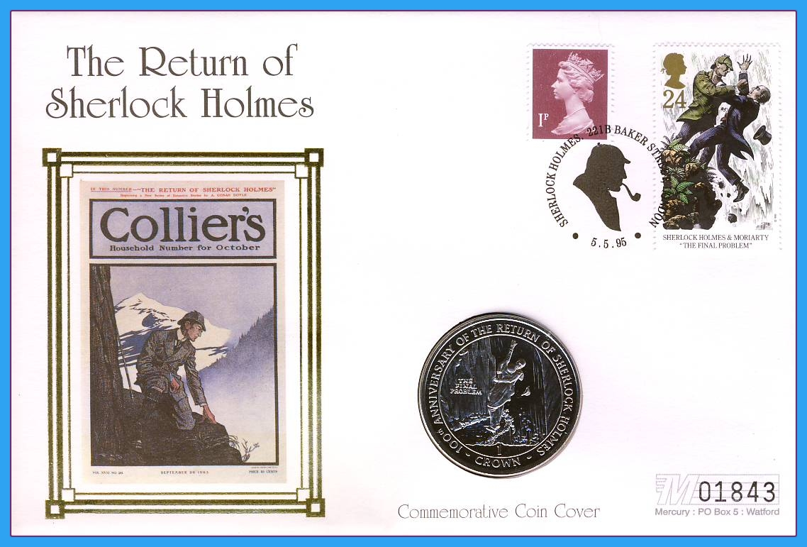The 1995 Sherlock Holmes Philatelic Numismatic Covers