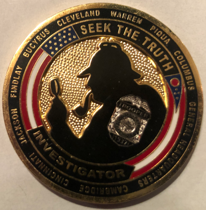Ohio State Highway Patrol Issues Sherlockian Themed Challenge Coin