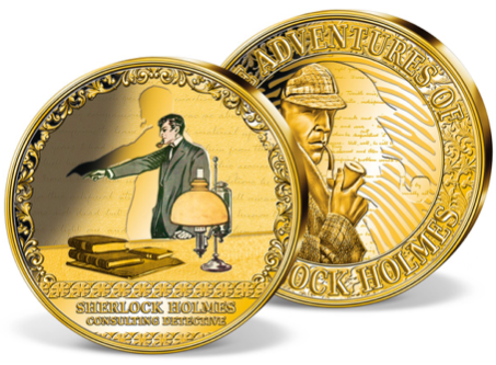 Windsor Mint Strikes 2019 Sherlock Holmes Consulting Detective Medal