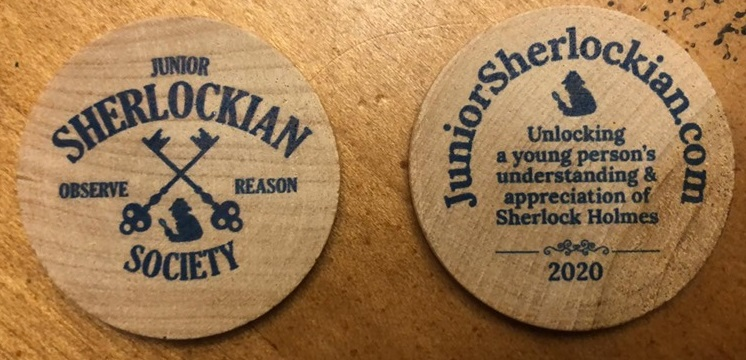 2020 Wooden Nickels Issued by Junior Sherlockian Society