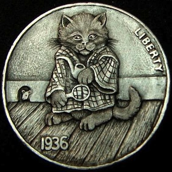 "Howard Thomas's ""Elementary My Dear Watson"" Hobo Nickel"