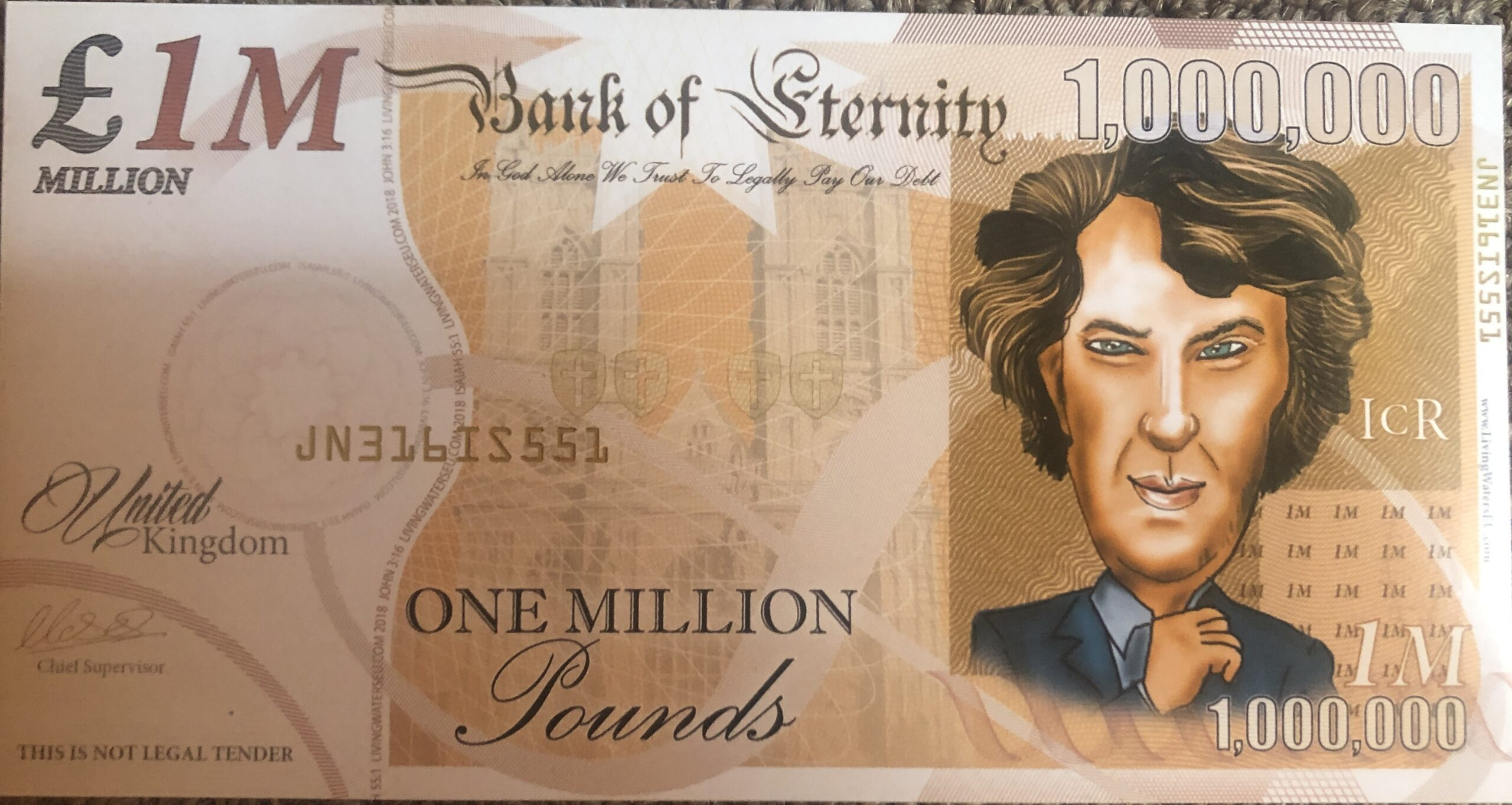 2019 Bank of Eternity £1M Notes Feature Cumberbatch