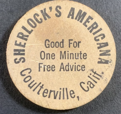 The Sherlock's Americana Wooden Nickel