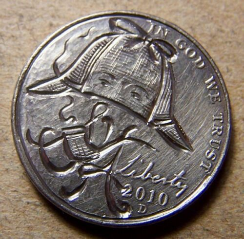Additional Sherlockian Hobo Nickels by 89Pines