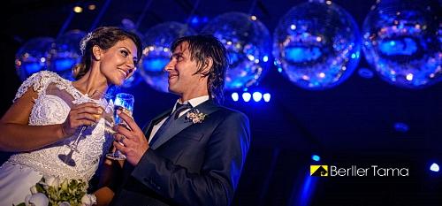 Casamiento de Tamara Alves Y Patricio Pato Toranzo en Puro Pilar con vestido de Claudio Cosano y fotos de Berller Tama.